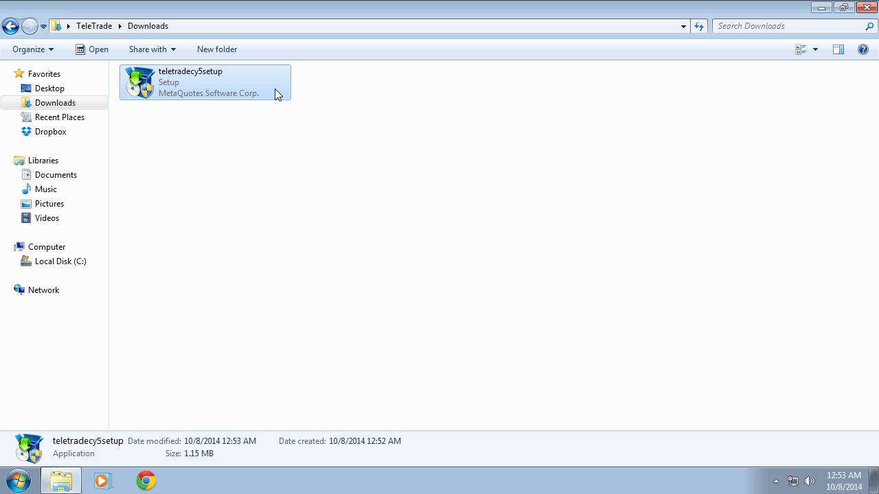 MetaTrader 5 Installation Instructions for Windows | TeleTrade