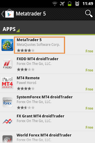 metatrader 5 installation instructions for android