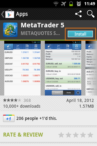 download mt 5 on android