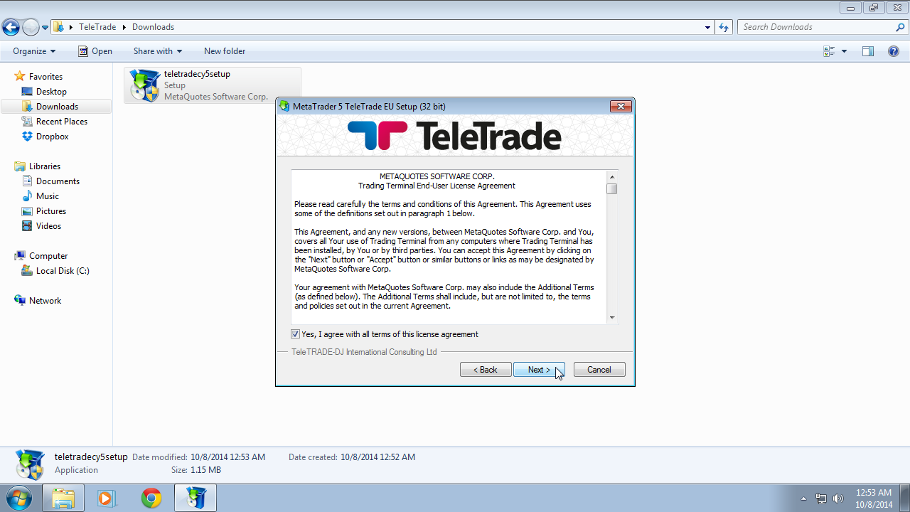 metatrader 5 installation instructions for windows